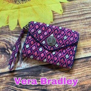 Vera Bradley pink wristlet wallet clutch